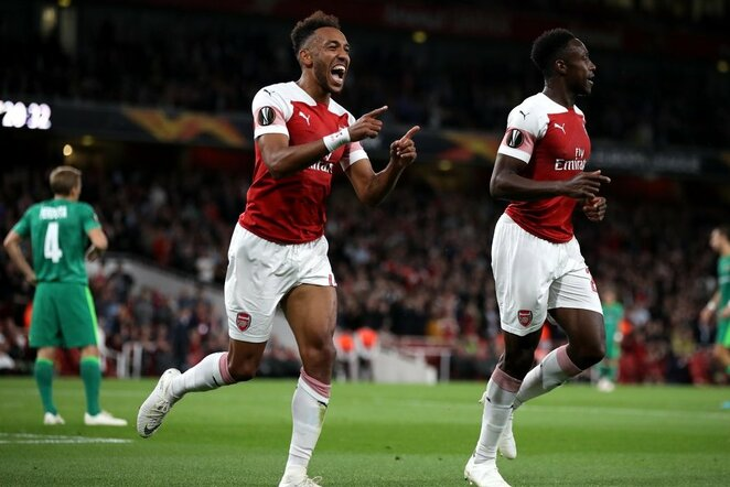 """Arsenal"" – ""Vorskla"" rungtynių akimirka  | Scanpix nuotr."