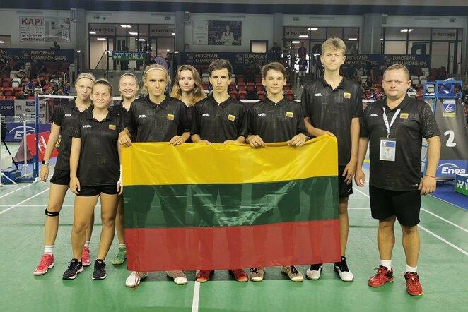 Lietuvos jaunių badmintono rinktinė   Organizatorių nuotr.