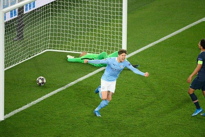 """Manchester City"" –PSG rungtynių akimirka   Scanpix nuotr."