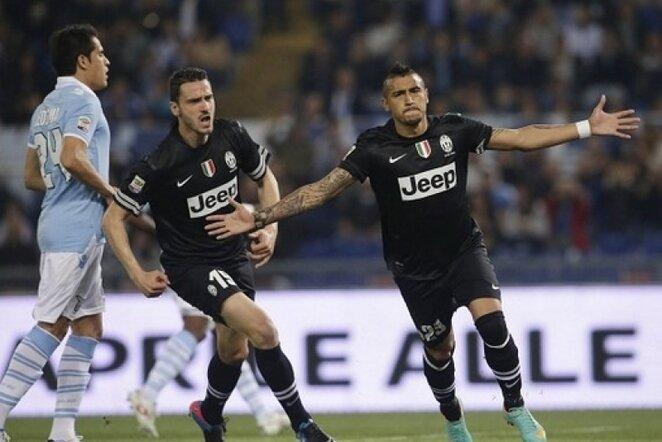 Arturo Vidalis džiaugiasi savo įvarčiu | LaPresse/Scanpix nuotr.