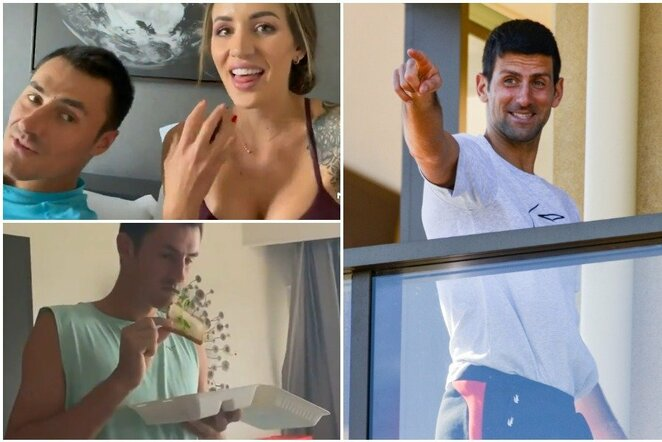 "Bernardas Tomičius, Vanessa Sierra ir Novakas Djokovičius | ""Scanpix"" ir instagram.com nuotr."