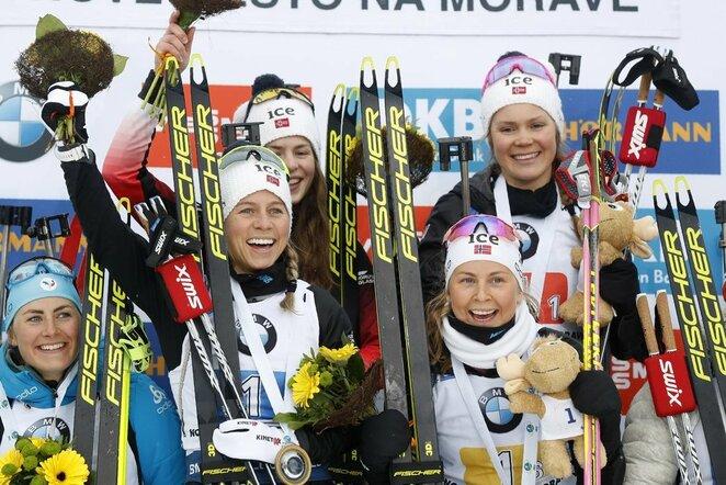 Karoline Offigstad Knotten, Ida Lien, Ingrid Landmark Tandrevold ir Tiril Eckhoff | Scanpix nuotr.