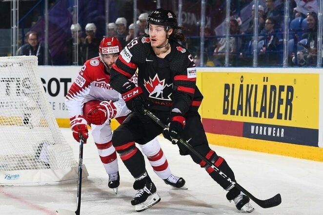 Kanadiečių ir danų rungtynės | IIHF nuotr.