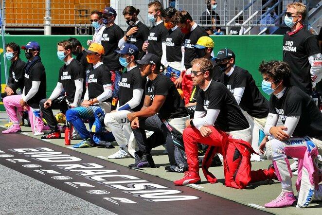 """""""Formulės 1"""" pilotai prieš startą   Scanpix nuotr."""
