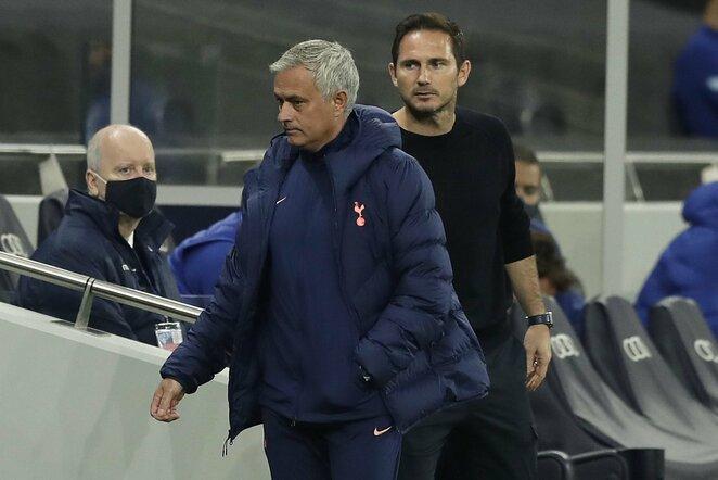Jose Mourinho ir Frankas Lampardas   Scanpix nuotr.