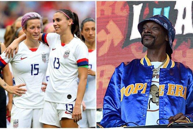 Snoop Doggas ir JAV moterų rinktinė | Organizatorių nuotr.