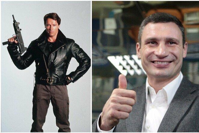 Arnoldas Švarcnegeris ir Vitalijus Kličko | Scanpix nuotr.