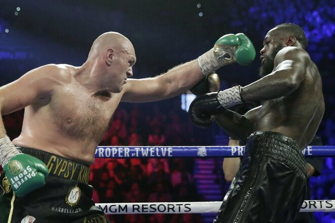 Tysonas Fury ir Deontay Wilderis | Scanpix nuotr.