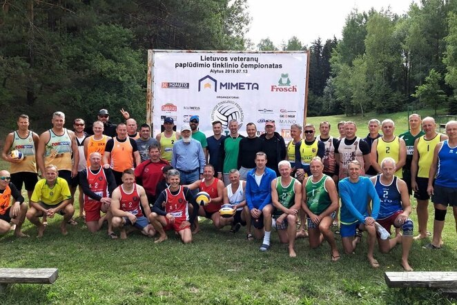 Lietuvos veteranų paplūdimio tinklinio čempionato etapas Alytuje | Organizatorių nuotr.