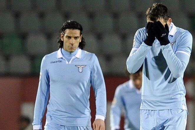 "Romos ""Lazio"" futbolininkų neviltis   LaPresse/Scampix nuotr."
