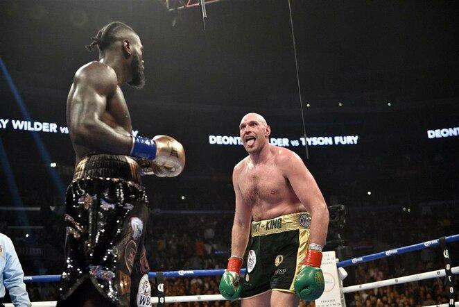 Deontay Wilderis prieš Tysoną Fury   Scanpix nuotr.