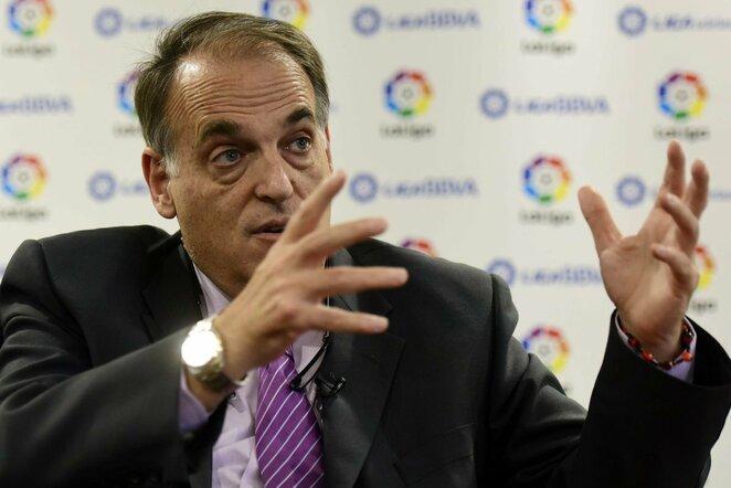 """""""La Liga"""" prezidentas Javieras Tebas   Scanpix nuotr."""