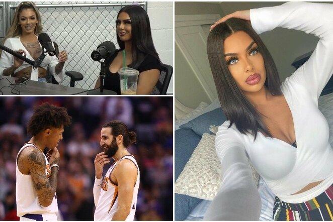 """Aliza ir """"Suns"""" krepšininkai   Instagram.com nuotr"""
