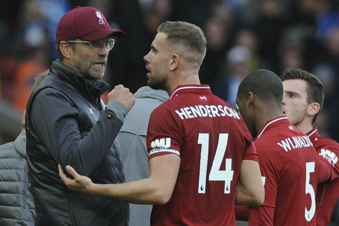 """Liverpool"" – ""Manchester City"" rungtynių akimirka | Scanpix nuotr."