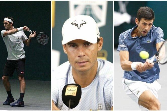 Rogeris Federeris, Rafaelis Nadalis ir Novakas Djokovičius   Scanpix nuotr.