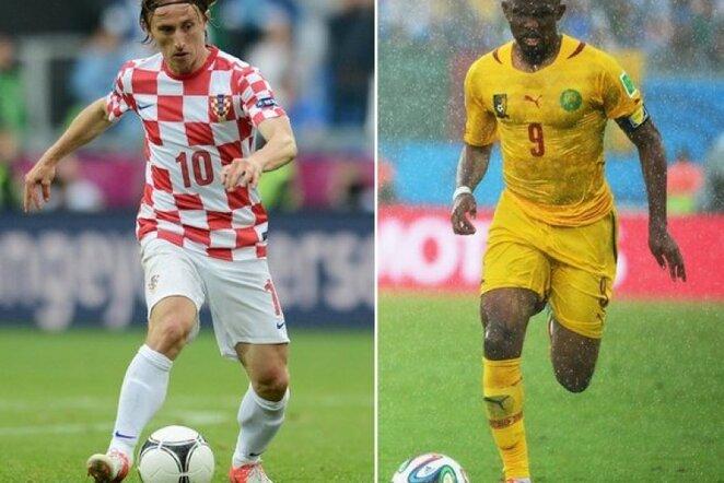 Luka Modričius ir Samuelis Eto'o | AFP/Scanpix nuotr.