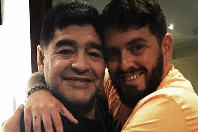 Diego Maradona su sūnumi | Instagram.com nuotr