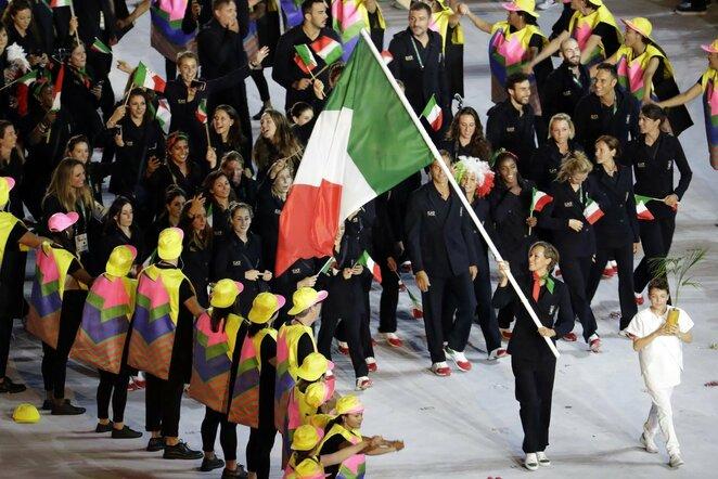 Italijos delegacija Rio de Žaneiro olimpiadoje | Scanpix nuotr.