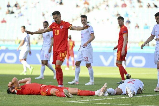Velso ir Šveicarijos rungtynių akimirka   Scanpix nuotr.
