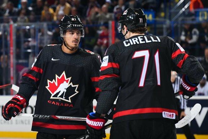 Kanadiečių ir prancūzų rungtynės | IIHF nuotr.