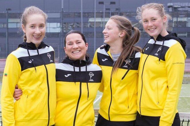 Lietuvos moterų teniso rinktinė   Organizatorių nuotr.