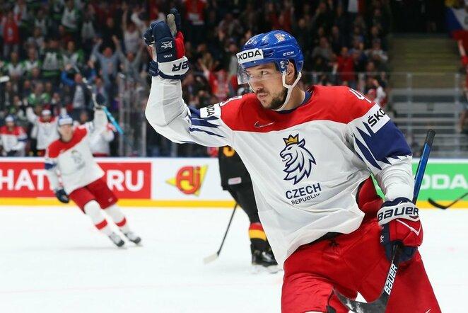 Čekų ir vokiečių rungtynės   IIHF nuotr.
