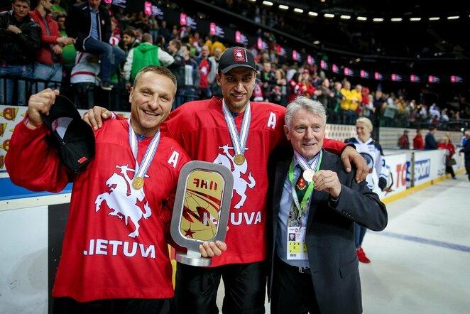 Darius Kasparaitis, Dainius Zubrus ir Berndas Haake | hockey.lt nuotr.