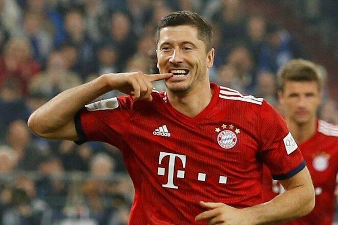 """Vokietijos """"Bundesliga"""": Gelzenkircheno """"Schalke"""" - Miuncheno """"Bayern"""" (2018.09.22)   Scanpix nuotr."""