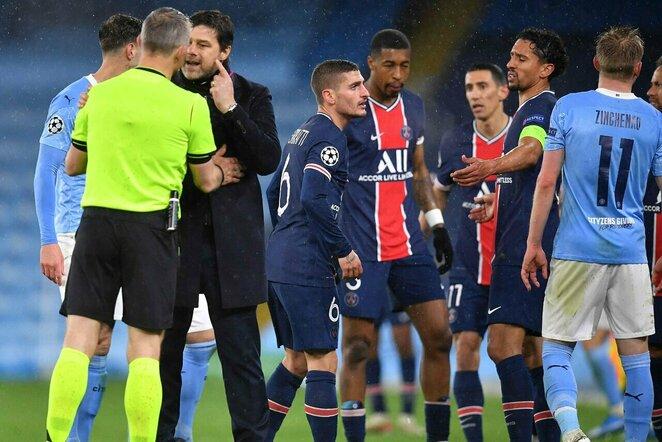 """PSG –""""Man City"""" rungtynių akimirka   Scanpix nuotr."""