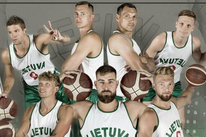 Specialiomis aprangomis Lietuvos rinktinės krepšininkai pagerbs 1939 m. Europos čempionus | Organizatorių nuotr.