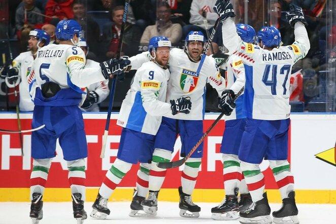 Austrų ir italų rungtynės | IIHF nuotr.