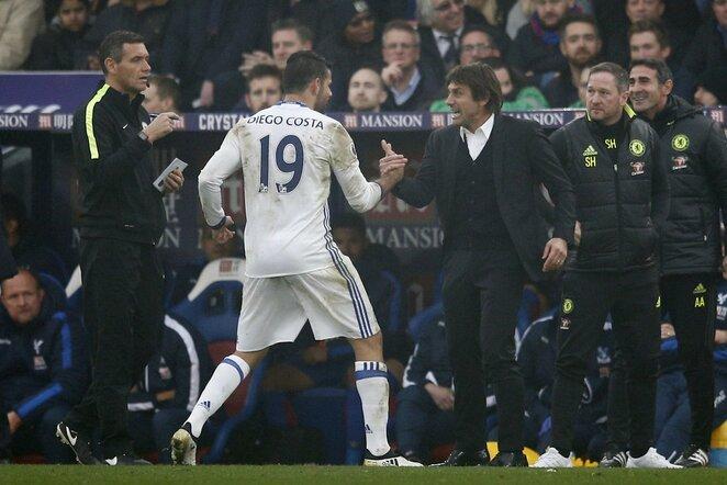 Diego Costa ir Antonio Conte | Scanpix nuotr.