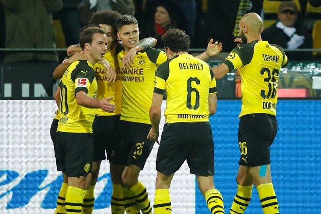"Dortmundo ""Borussia"" – Menchengladbacho ""Borussia"" rungtynių akimirka  | Scanpix nuotr."