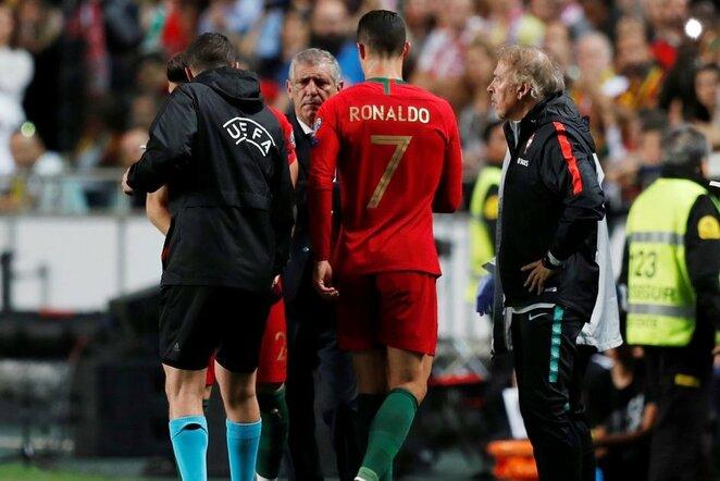 C.Ronaldo paliko susitikimą sužaidus vos pusvalandį  | Scanpix nuotr.
