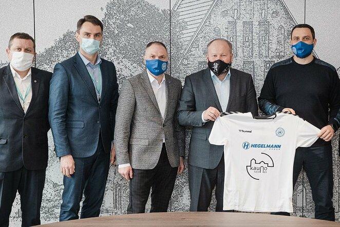"""""""Hegelmann Litauen"""" vadovai su Kauno rajono savivaldybės valdžia   Organizatorių nuotr."""