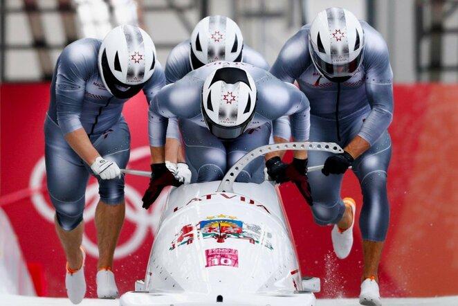 Latvijos bobslėjaus komanda | Scanpix nuotr.