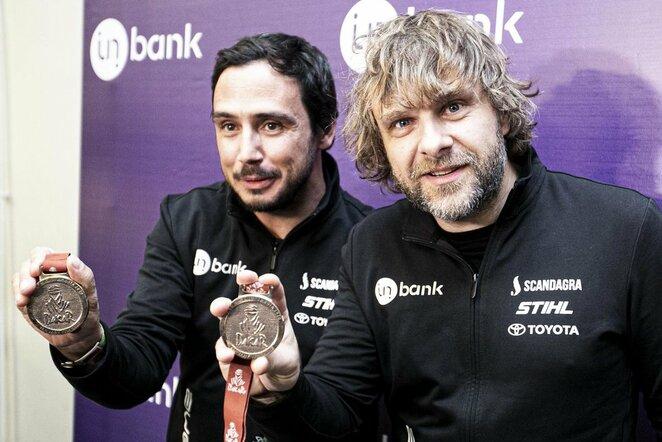 Benediktas Vanagas su komanda po 2020m. Dakaro sugrįžo į Lietuvą | BNS/Arno Strumilos nuotr.