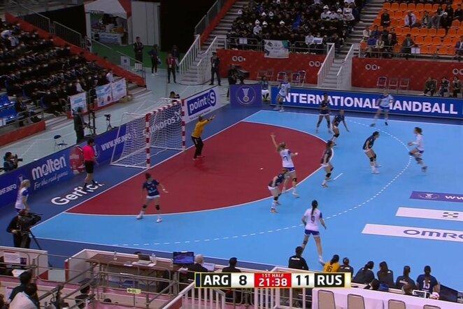 Rusių ir argentiniečių rungtynės | Youtube.com nuotr.