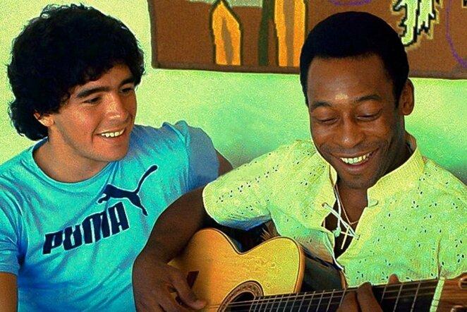 Diego Maradona ir Pele | Instagram.com nuotr