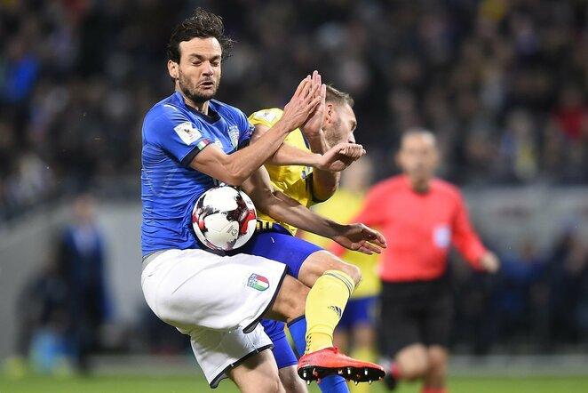 Pasaulio čempionato atranka: Švedija - Italija (2017.11.10)   Scanpix nuotr.