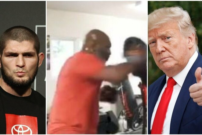 Chabibas Nurmagomedovas, Mike'as Tysonas ir Donaldas Trumpas | Scanpix nuotr.