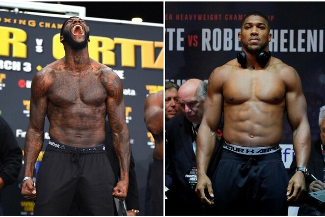 Deontay Wilderis ir Anthony Joshua | Scanpix nuotr.