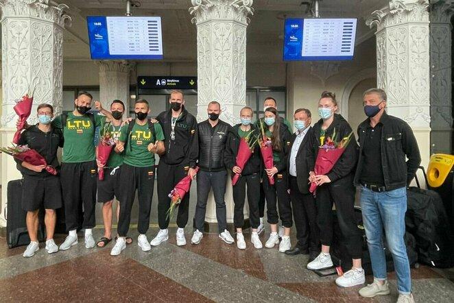 Lietuvos 3x3 krepšinio rinktinių sutikimas | Organizatorių nuotr.