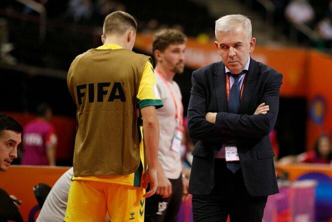 Lietuvos – Kosta Rikos futsal rinktinių rungtynių akimirka | Eriko Ovčarenko / BNS foto nuotr.