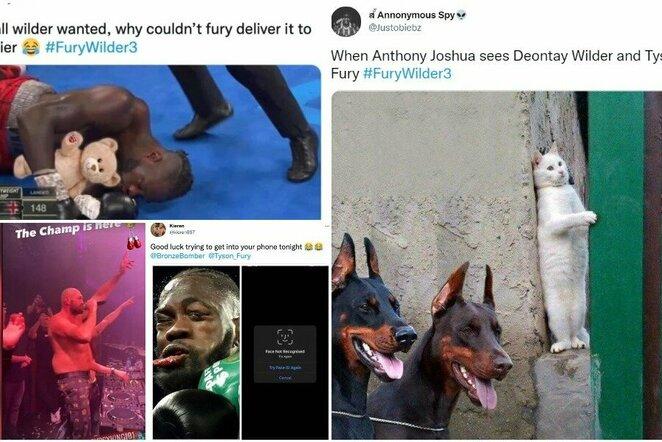 """Tysonas Fury ir Deontay Wilderis   """"Twitter"""" nuotr."""