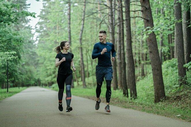 Bėgimo treniruotė   Organizatorių nuotr.