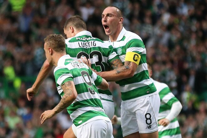 """Celtic"" švenčia įvartį   Scanpix nuotr."