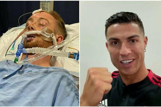 "Danny Hodgsonas ir Cristiano Ronaldo   ""Twitter"" nuotr."