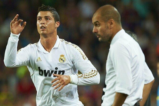 Cristiano Ronaldo ir Pepas Guardiola | Scanpix nuotr.