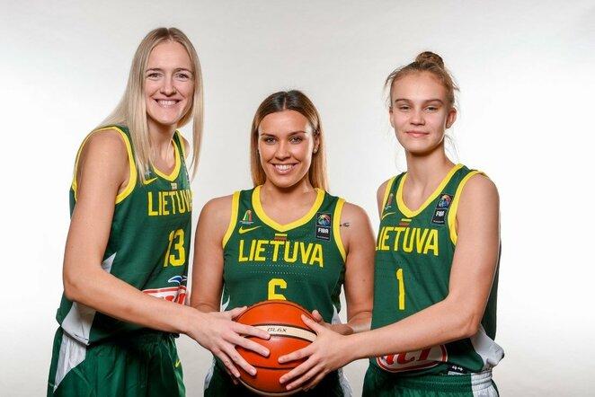 Lietuvos moterų krepšinio rinktinės fotosesija   Fotodiena nuotr.